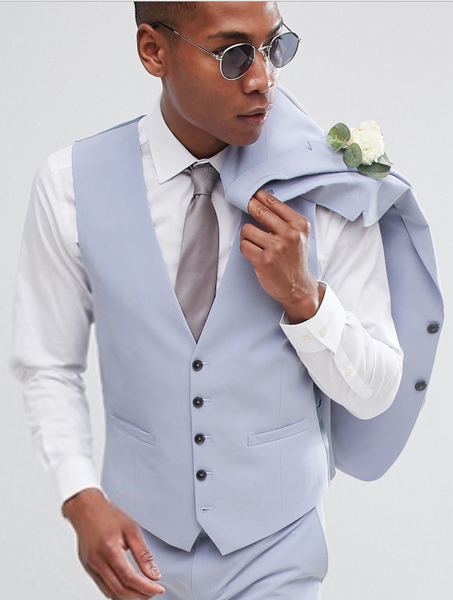 Men's Pastel Blue Suit | Wedding Outfits for Men