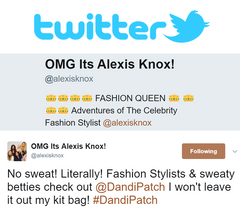 Alexis Knox celebrity fashion stylist uses dandi patch on her clients to prevent sweat marks