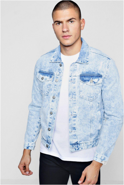 Boohoo Man Distressed Denim Jacket | Men's fashion trends