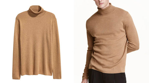 Men's roll neck jumper