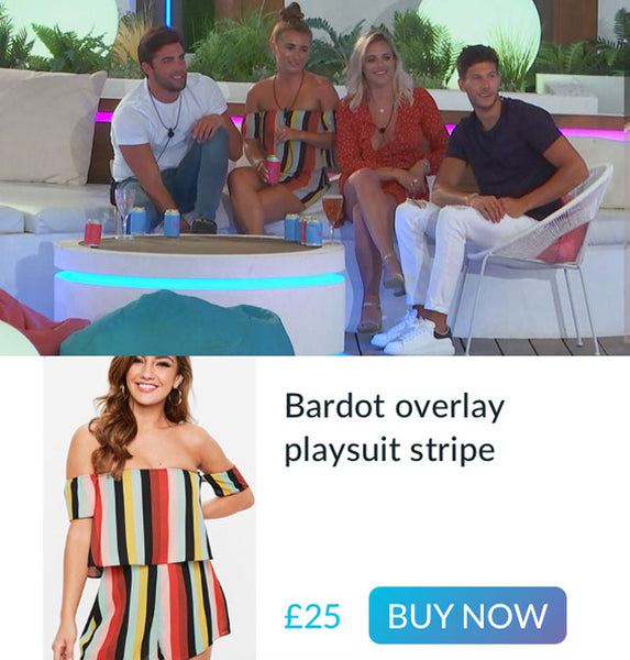 Dani's colourful playsuit worn on Love Island