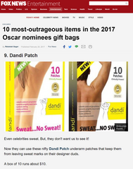 Fox News - dandi patch are in the Oscar goodie bags