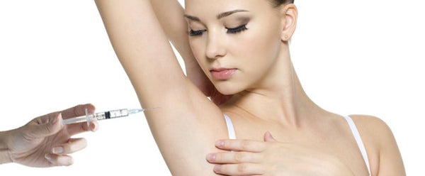 botox for hyperhidrosis - woman with needle