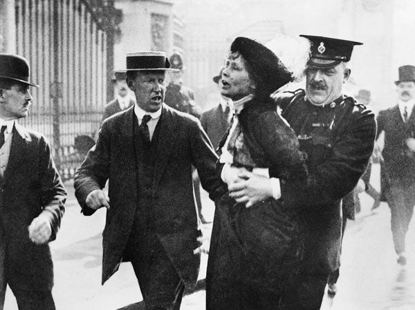 International Women's Day - Emmeline Parkhurst getting arrested after protecting