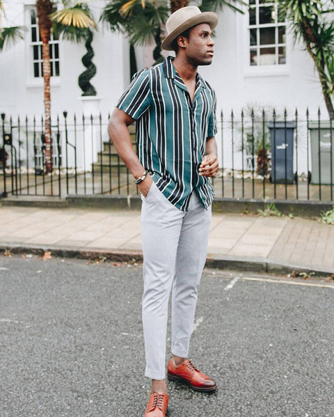 New Look Men's Green Stripey Shirt | Men Fashion Trends