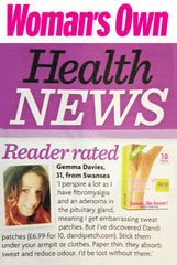 Women's Own health news dandi® patch was reader rated excellent