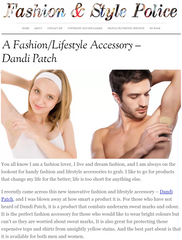 Fashion and Style Police blog on dandi patch