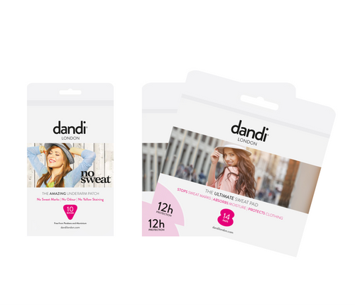 Female dandi® patches x 1 pack and pads x 2 packs 10% discount bundle