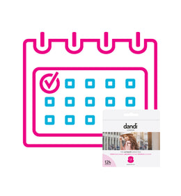 Ladies dandi® pad 1 pack per month subscription.
