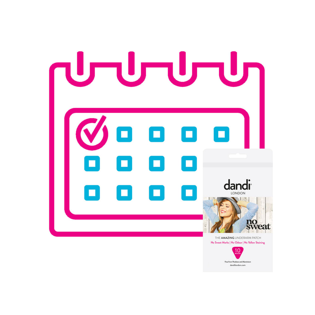 Ladies dandi® patch 1 pack per month subscription.