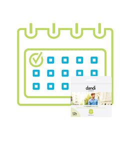 Men's dandi® pad 1 pack per month subscription.