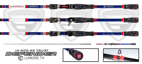 LUNKERS DEFENDER EDITION CASTING ROD (limited edition)
