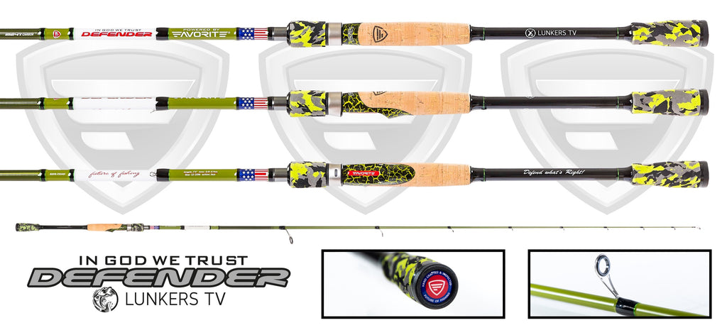 LUNKERS DEFENDER EDITION SPINNING ROD (limited edition)