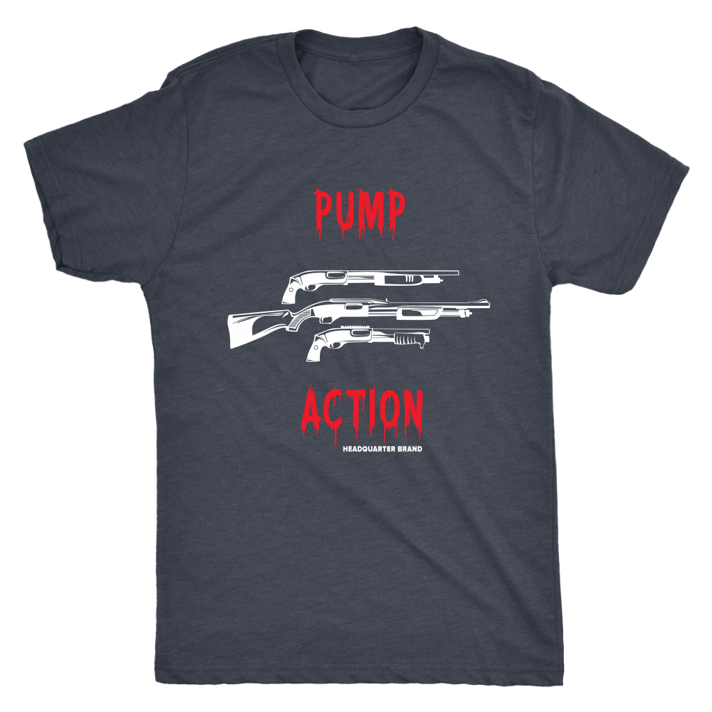 Pump Action White Guns Triblend