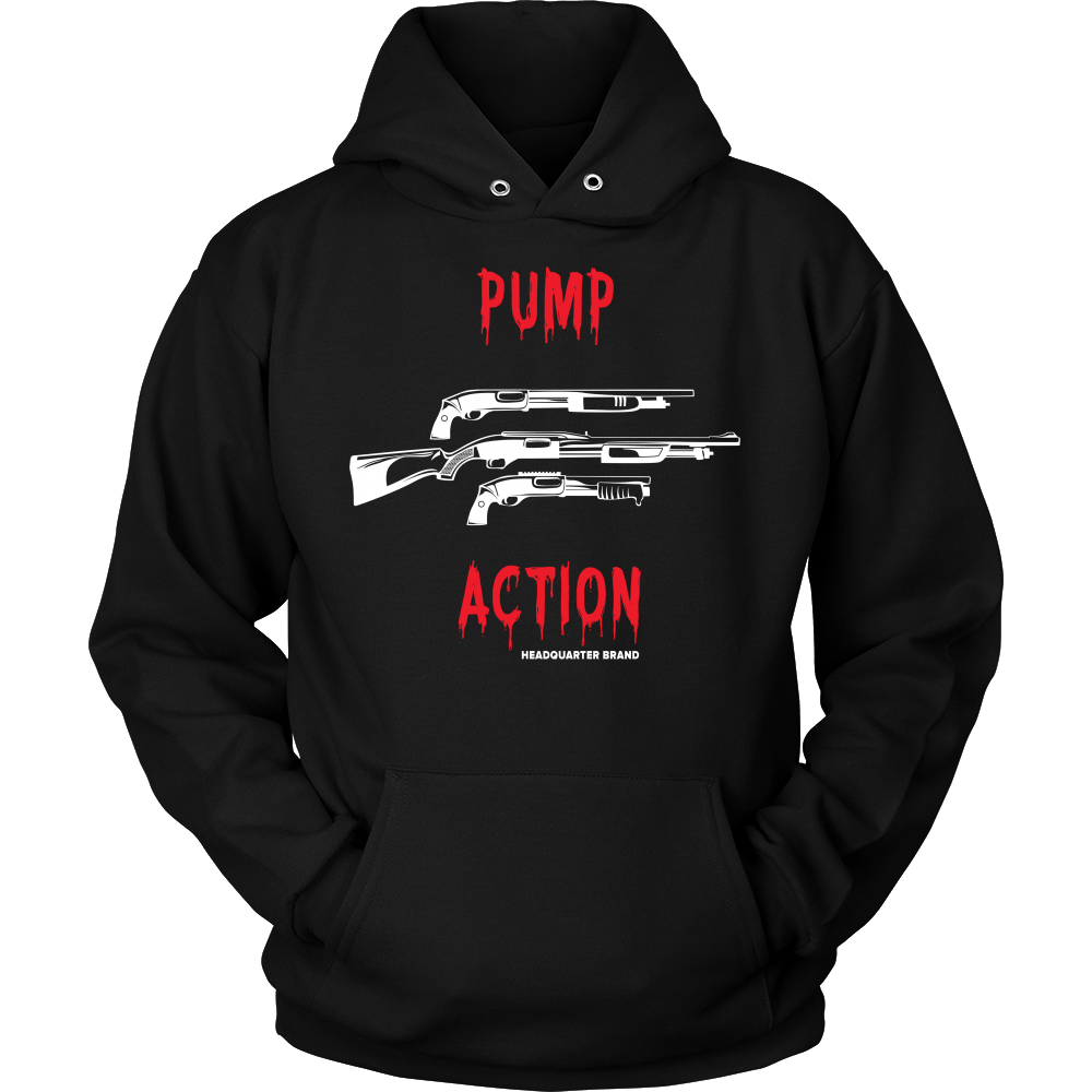 Unisex Pump Action White Guns Hoodie