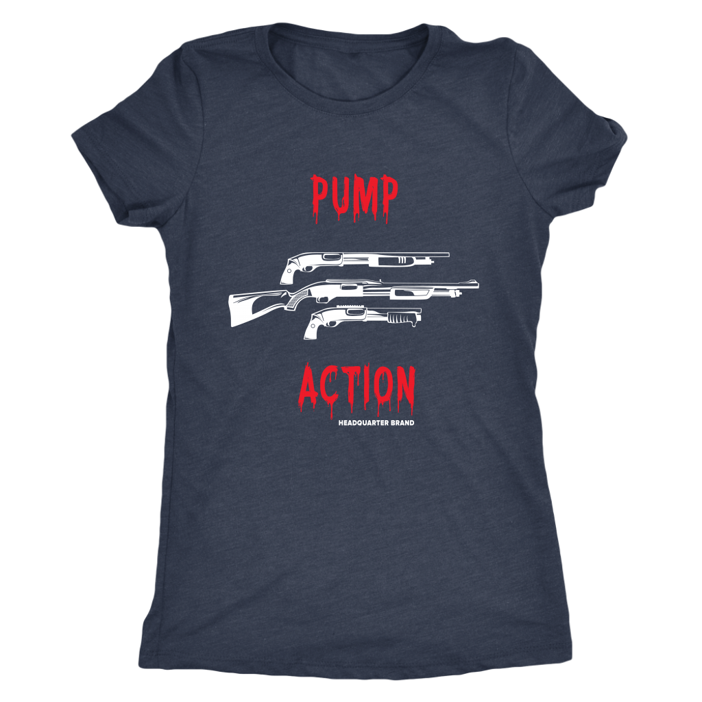 Women's Pump Action White Guns Triblend