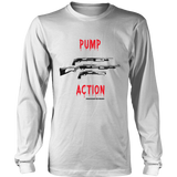 Pump Action Black Guns Long Sleeve