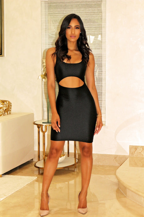 A Beauty Body-con Mini Dress - Black