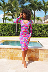 All That Color Simple Midi dress - Semai House Of fashion
