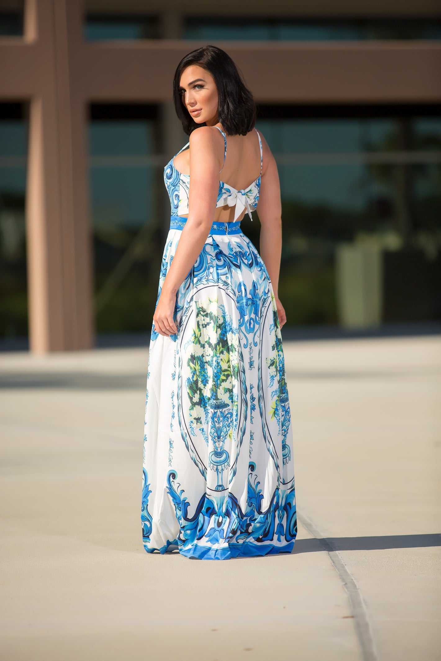 9a260ff2464 ... Amara - Miami Beach Royal Blue Maxi Dress - Multi - Semai House Of  fashion ...