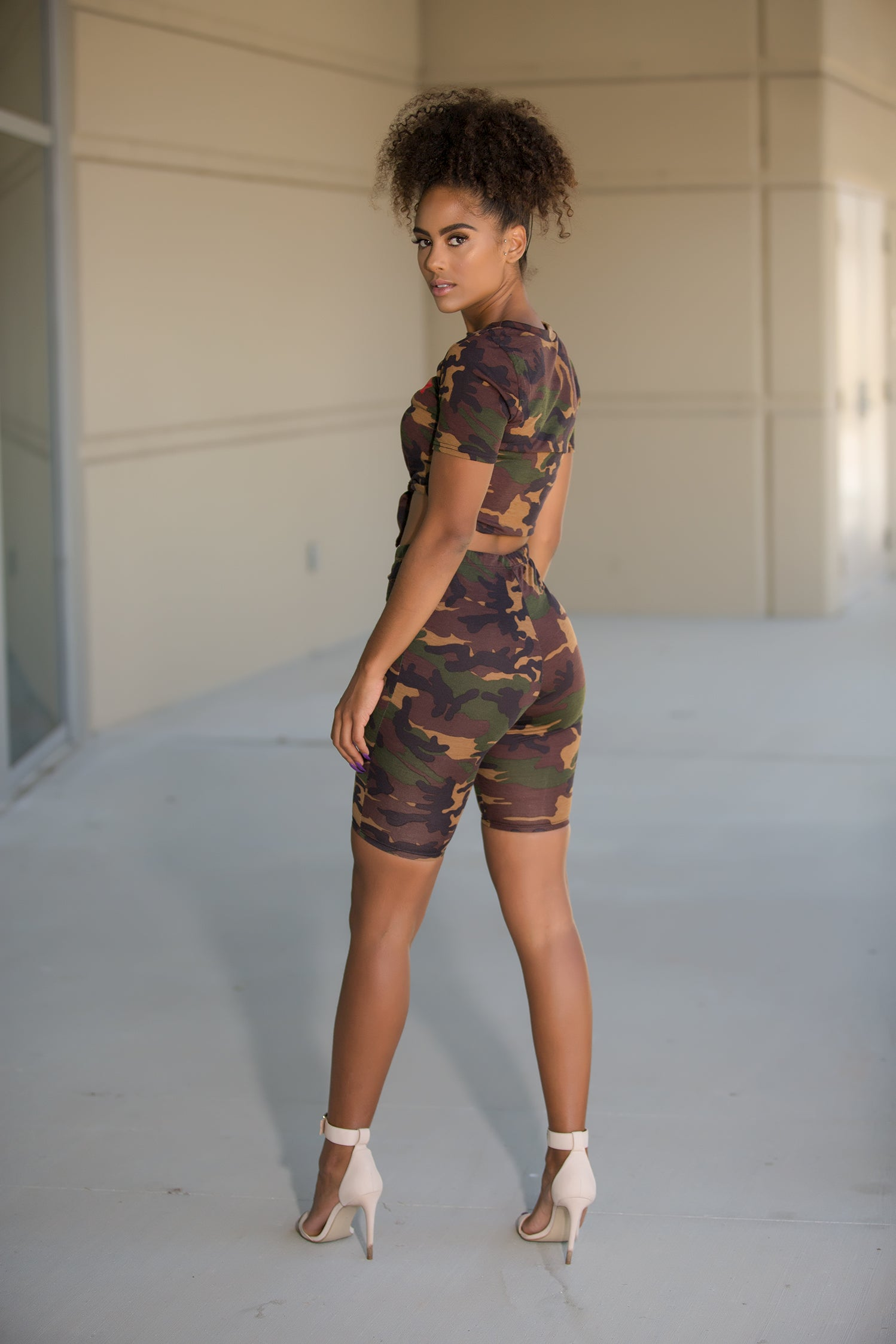 0cbaf0d5ca ... Lilly - Super Babe Camo Crop Top Shorts Set - Semai House Of fashion ...