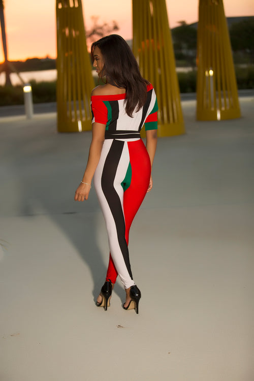 Candy Stripes Bold Jumpsuit Back