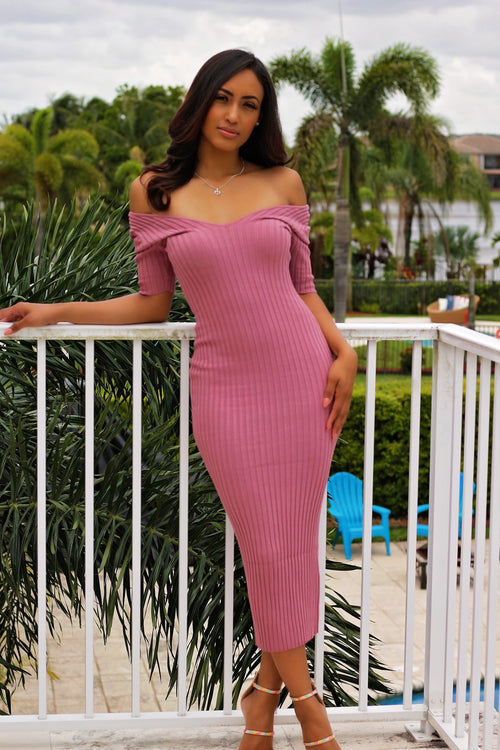 Carmen - Breezing Through Midi Dress - Pink