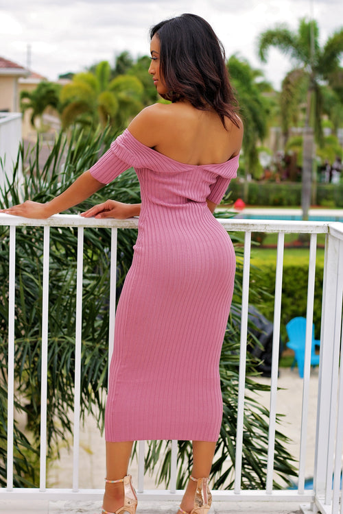 Carmen - Breezing Through Midi Dress - Pink - Semai House Of fashion