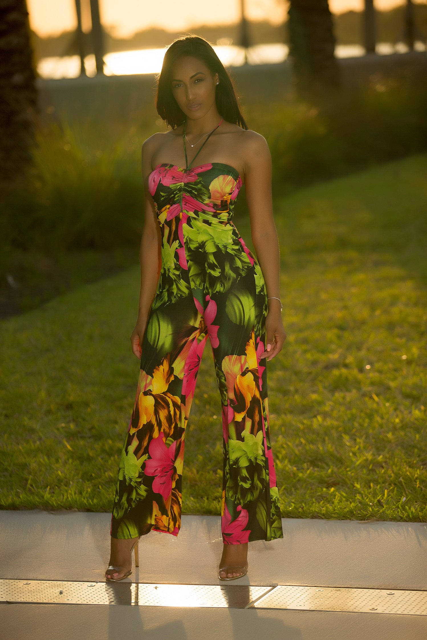 Deena - Summer Passion Floral Print Jumpsuit - Semai House Of fashion