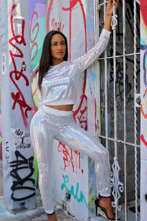 Going Places Sparkly Jogger Set - Semai House Of fashion