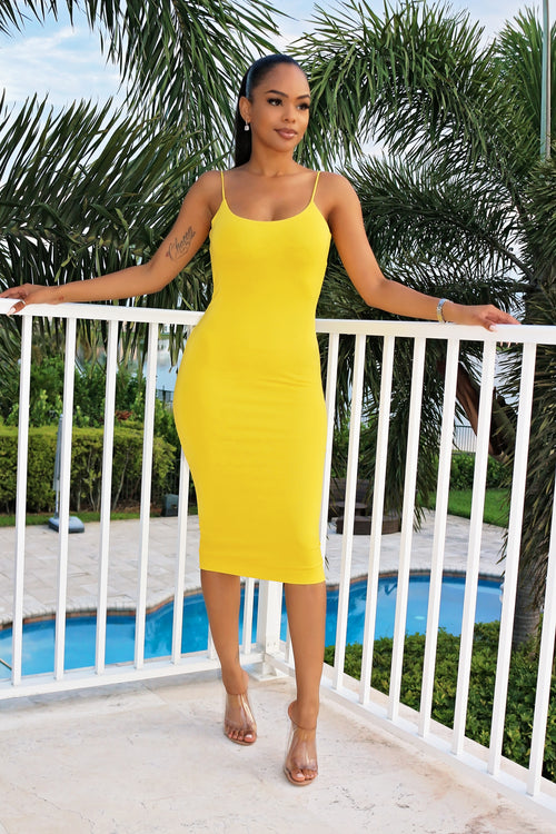 Summer Love Dress- Yelow