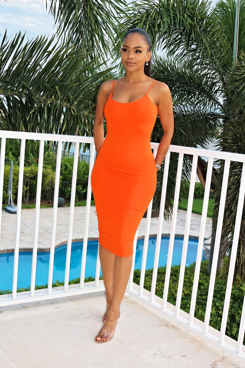 Summer love Dresses- Rust - Semai House Of fashion