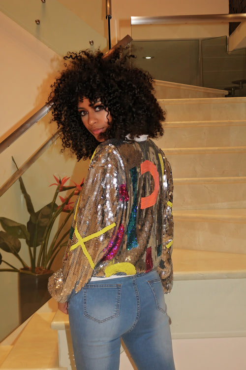 Just Sequin Jacket - Semai House Of fashion