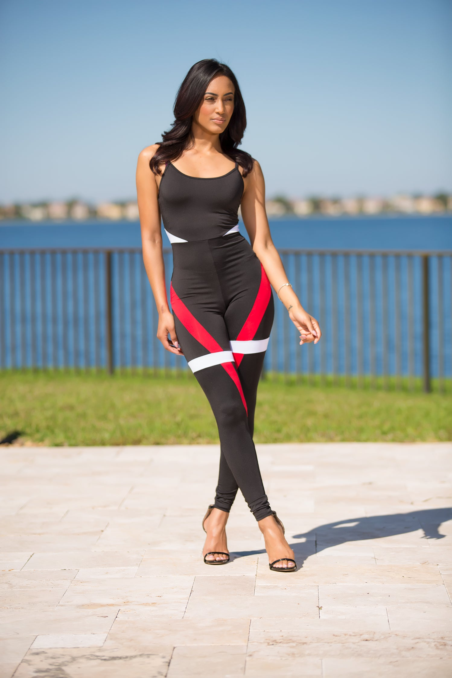 Trendy Jumpsuit Black And Red