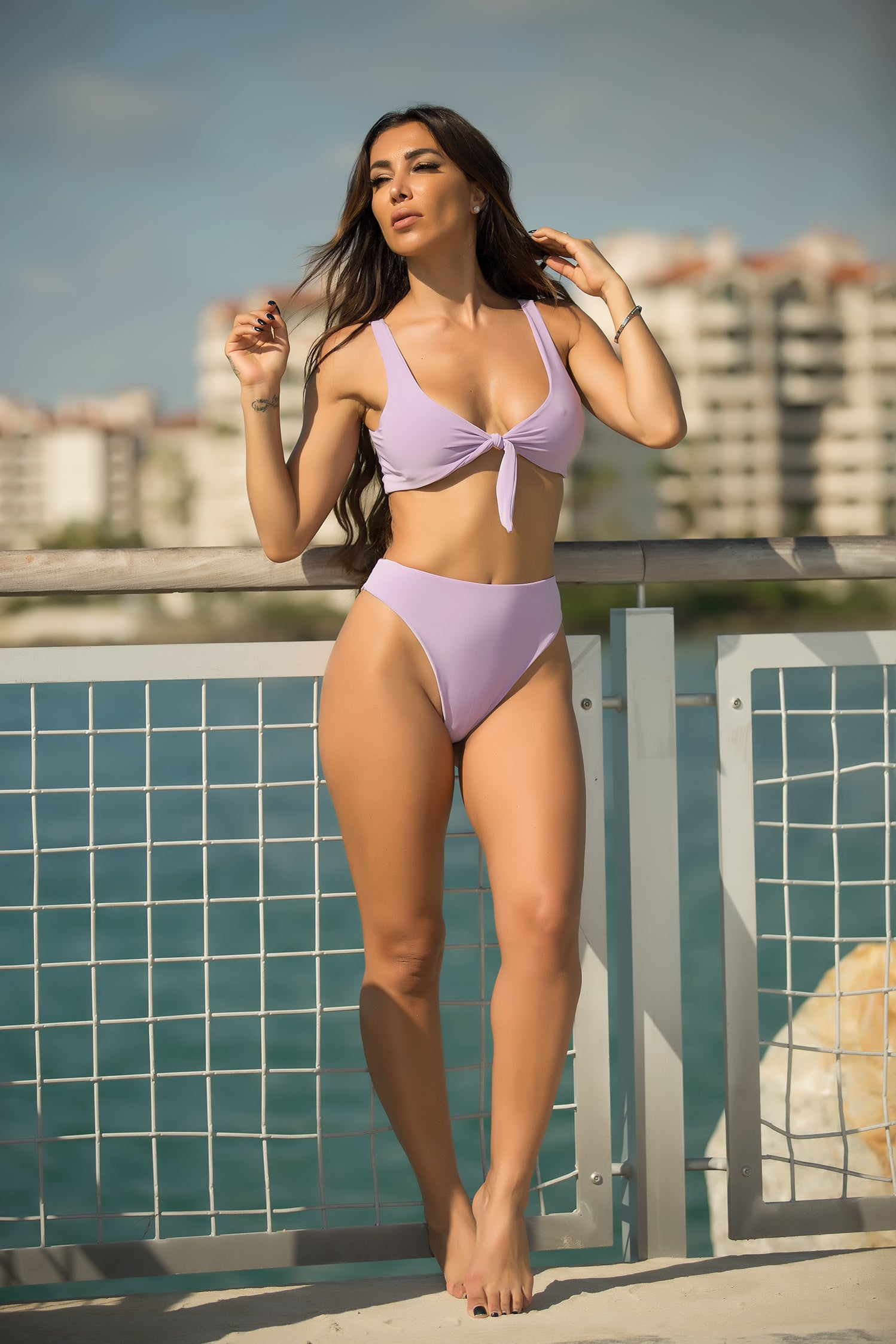 Nessa - Lavender Crush 2 Piece Swimsuit - Semai House Of fashion