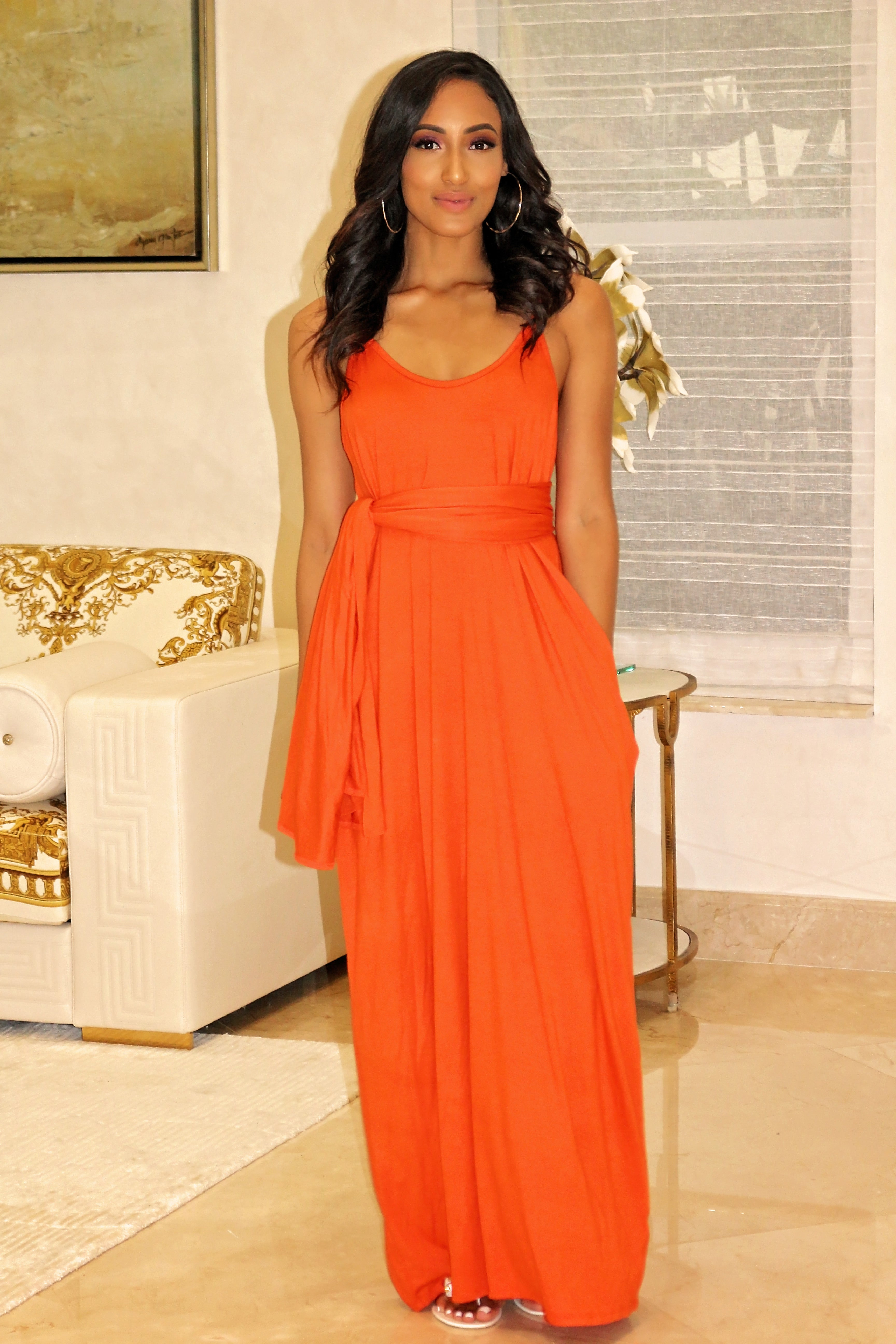 Lounge Max Dress Orange - Semai House Of fashion