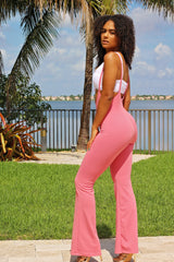 Love My Overall Pant Set - Pink - Semai House Of fashion