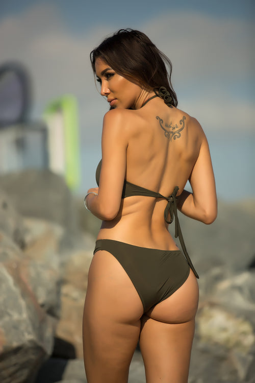 Love Ocean Swimsuit - Olive Back