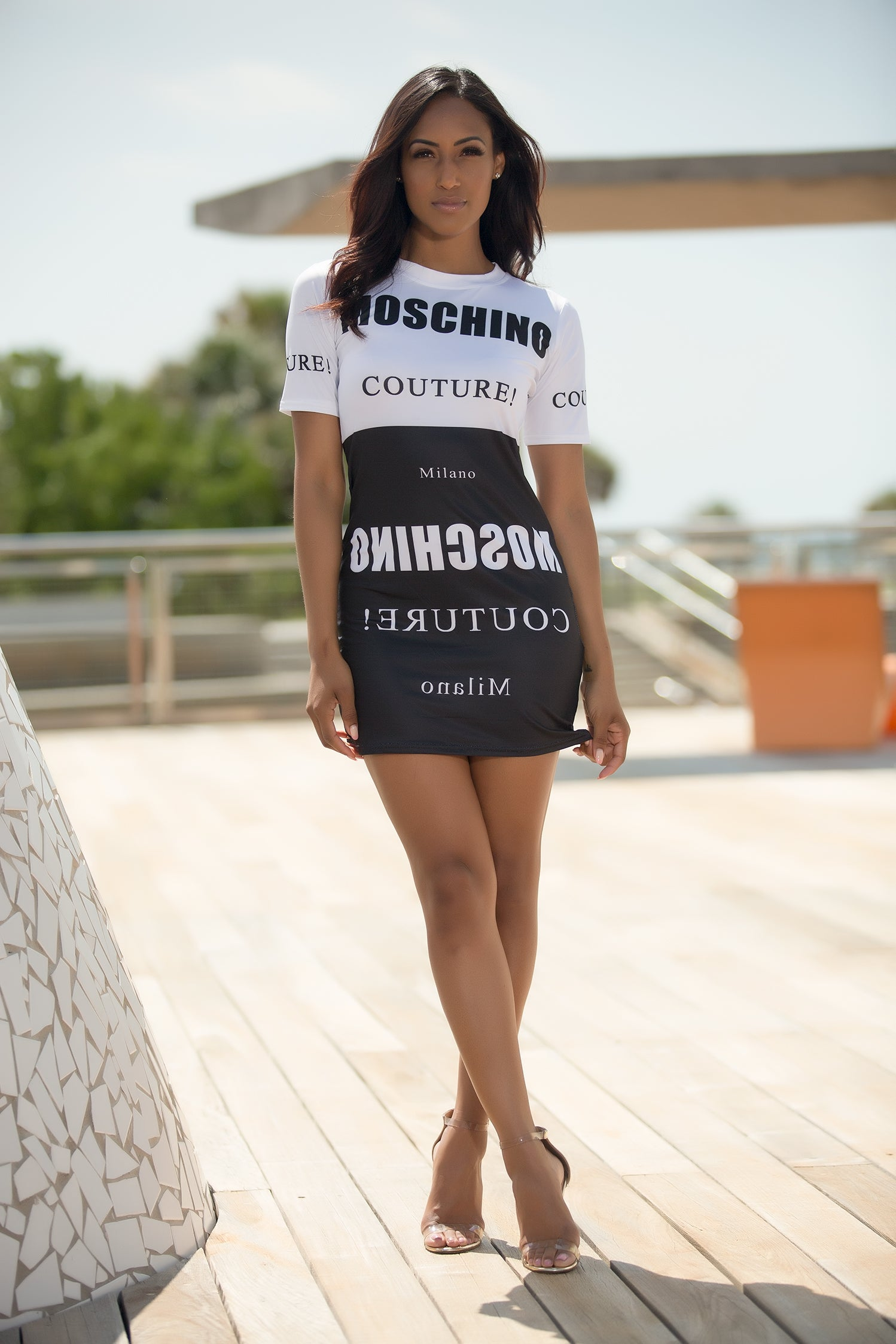 Milano Moschino Couture Mini Dress - Black/White