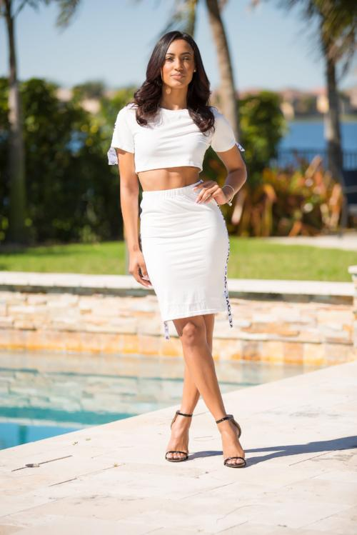 Nothing But Love White Skirt Set Back