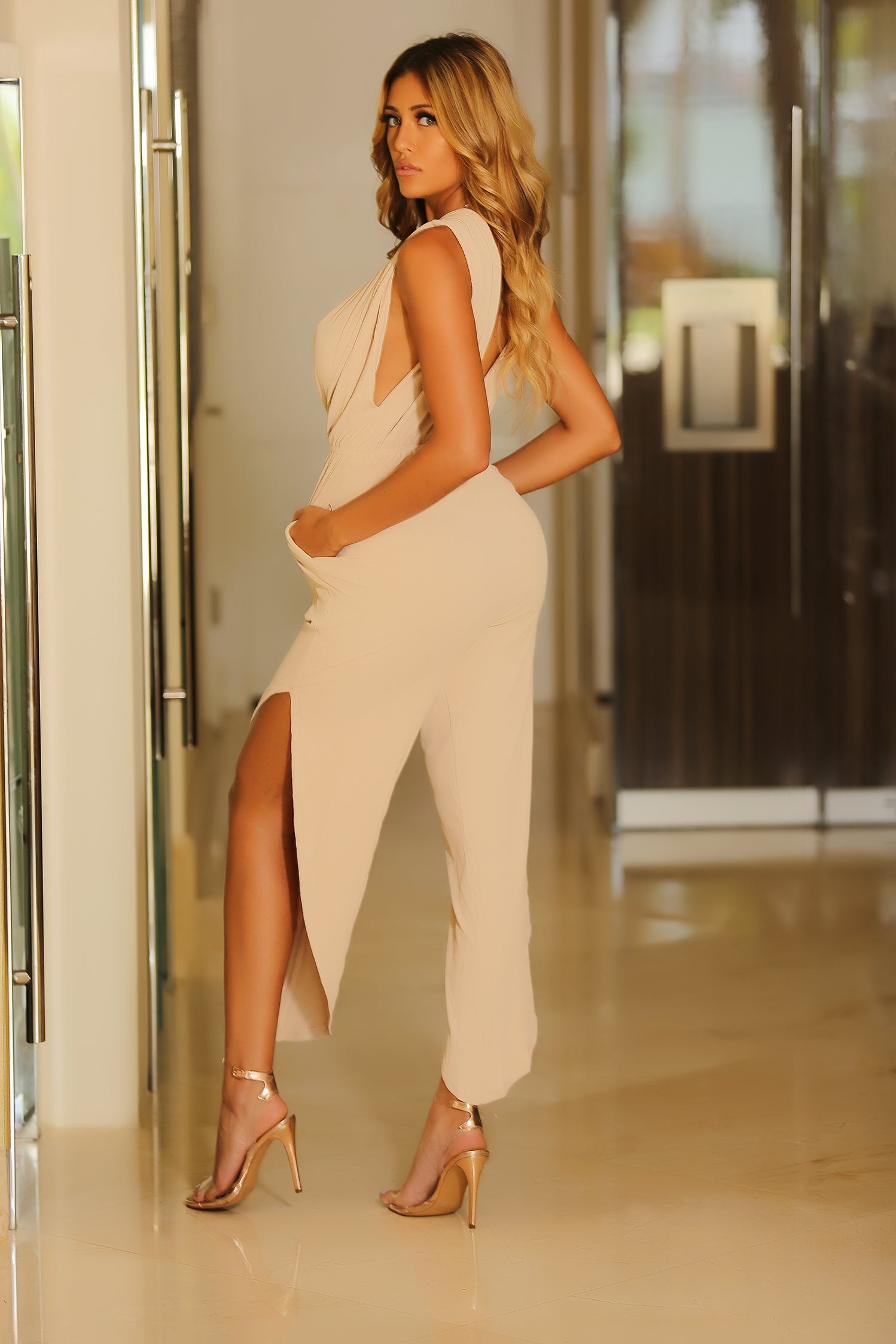 Ariel - Now Im'm In The Nude Jumpsuit - Nude - Semai House Of fashion