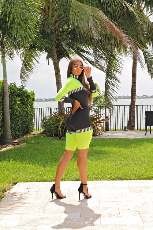 On The Go Romper - Neon - Semai House Of fashion