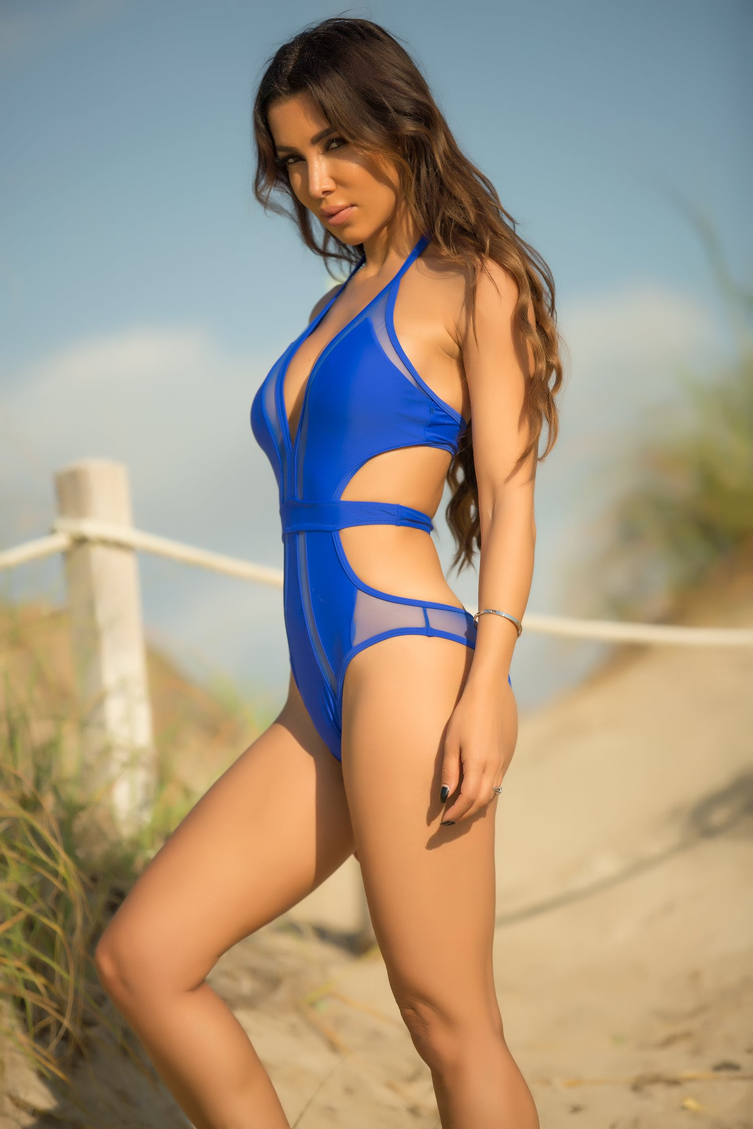 Flora - Making Waves Swimsuit - Royal Blue - Semai House Of fashion