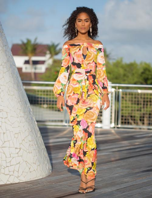 Norah - Paradise Floral Maxi Dress - Semai House Of fashion
