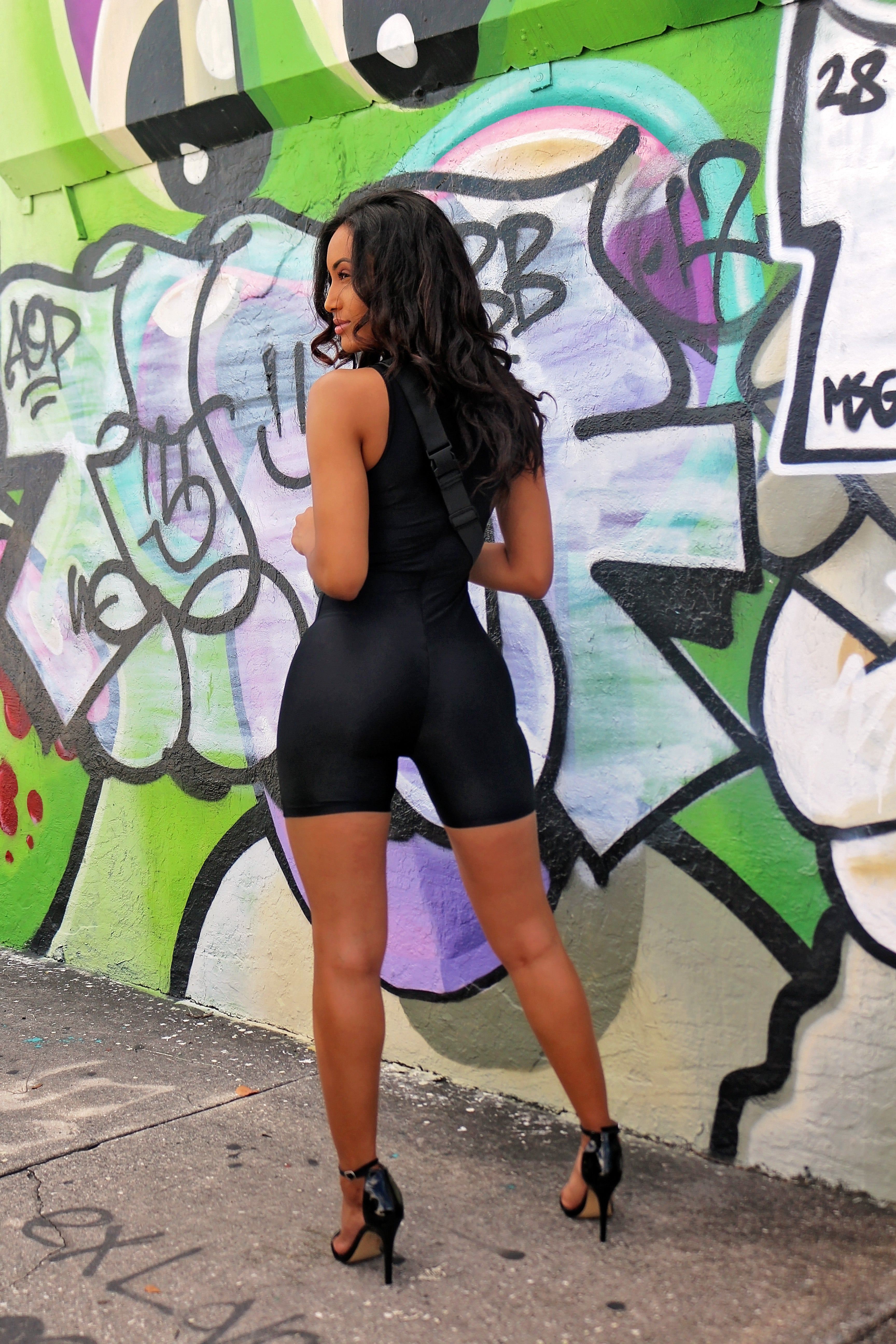 Playing It Safe Romper Black - Semai House Of fashion