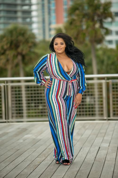 Danica - Plus Size Striped Jumpsuit