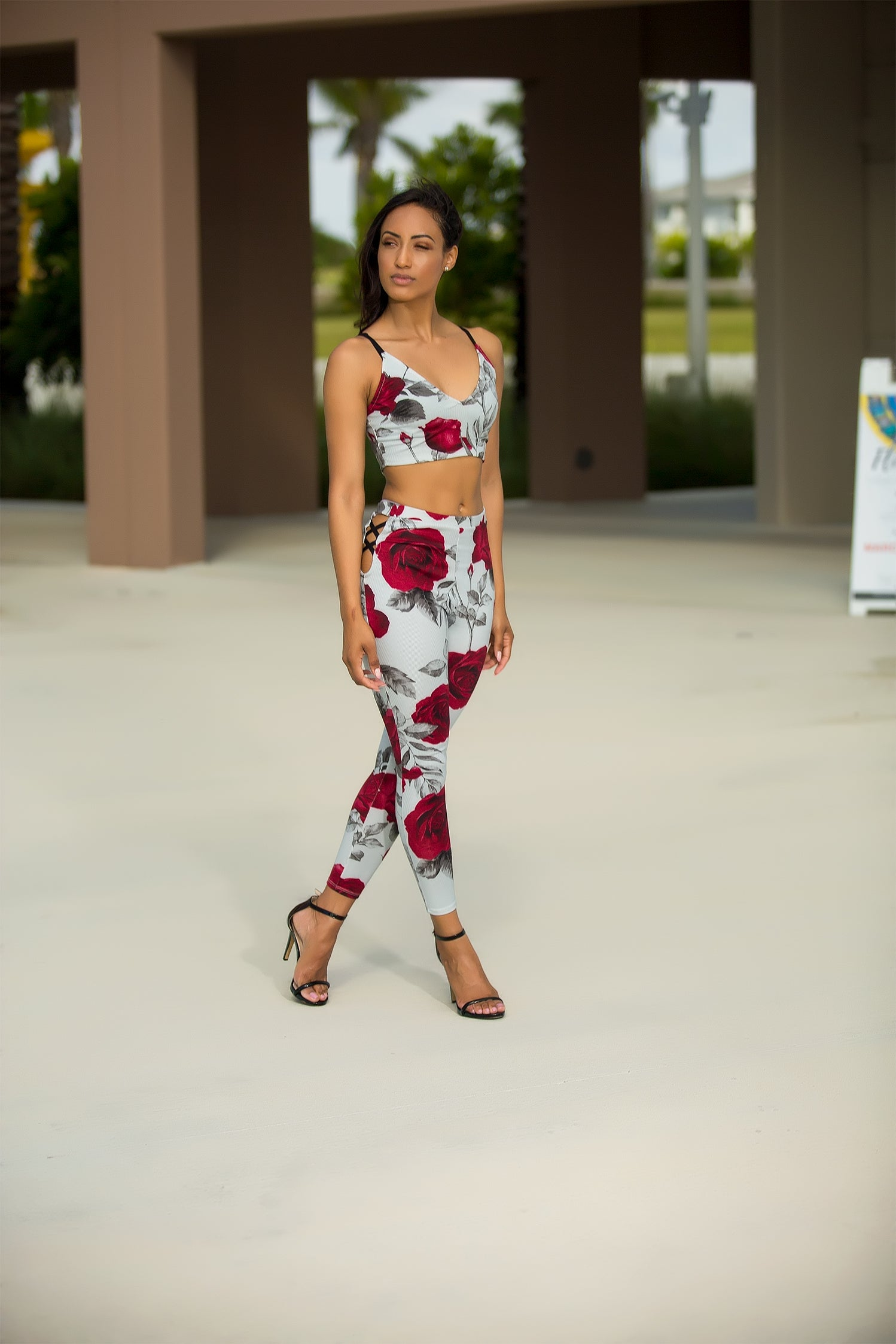 Rosie - Rose Encounter Floral Pant Set - Semai House Of fashion