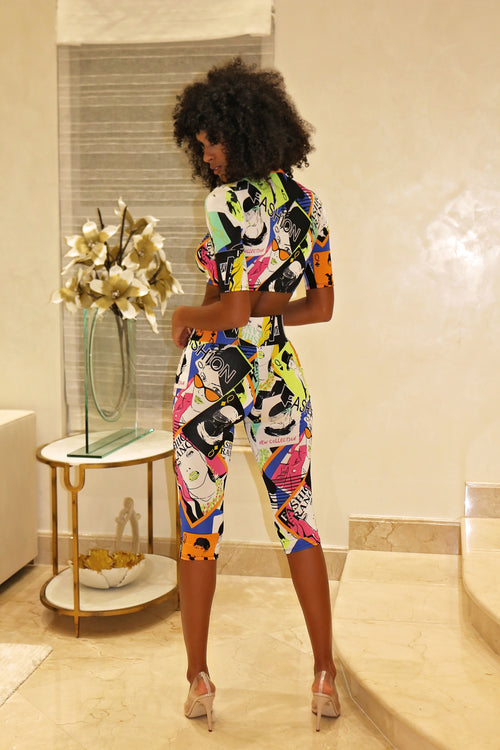She's A Fashion Killa Pants Set - Multi Back