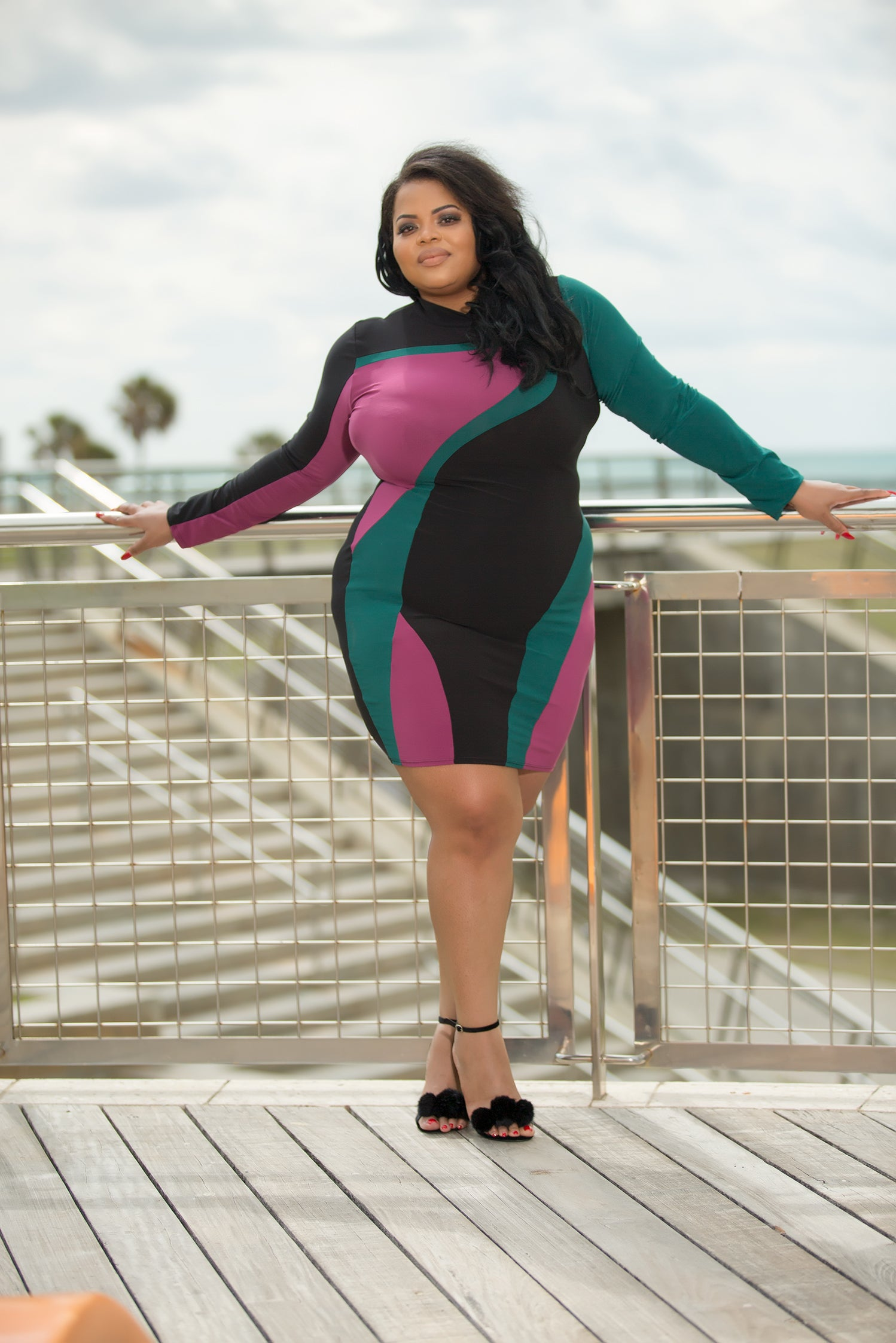 Nina - Slay Queen Plus Size Mini Dress - Semai House Of fashion