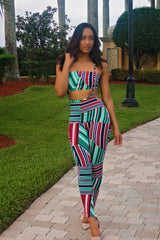 Sofie - Abstract Print Overall Set - Multi